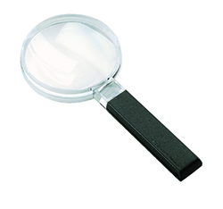 Large Field Biconvex Hand-held Magnifier - 3x