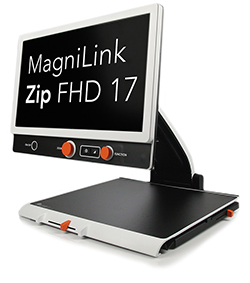 "MagniLink Zip HD 17"" w/Battery w/Reading Table - Used"